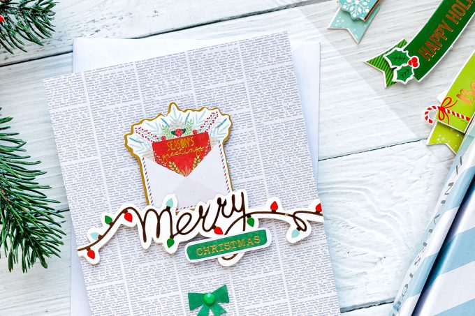 """Merry Christmas Handmade Holiday Card created using Spellbinders """"Deer"""" Santa Card Kit Extras! Visit my blog for quick video tutorial to learn how to make these cards."""