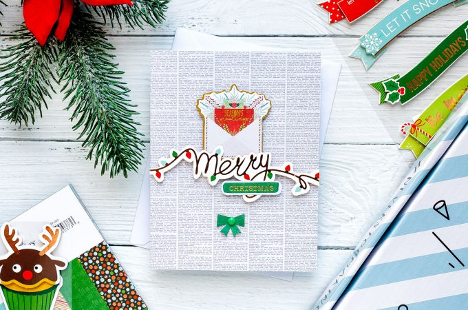 "Merry Christmas Handmade Holiday Card created using Spellbinders ""Deer"" Santa Card Kit Extras! Visit my blog for quick video tutorial to learn how to make these cards."