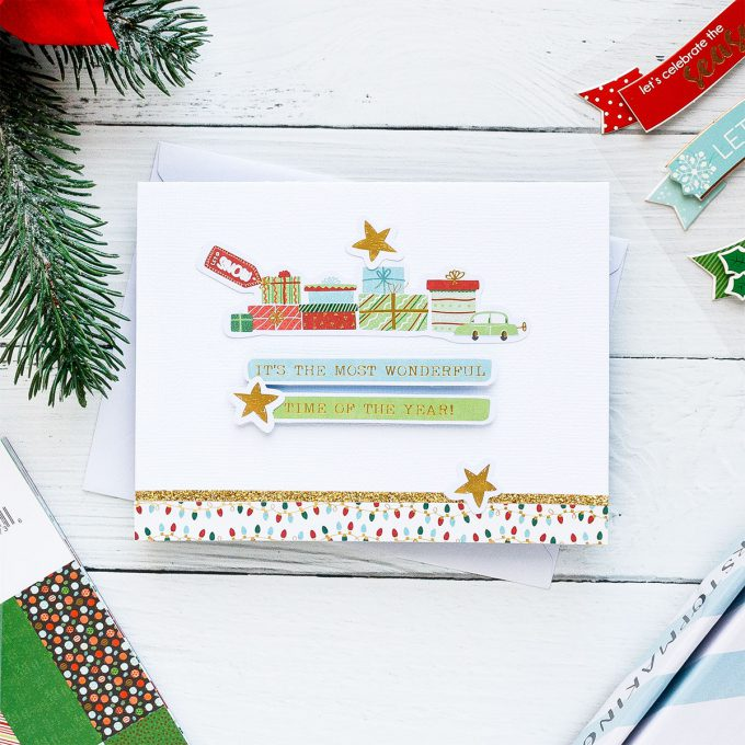 "It's The Most Wonderful Time Handmade Holiday Card created using Spellbinders ""Deer"" Santa Card Kit Extras! Visit my blog for quick video tutorial to learn how to make these cards."