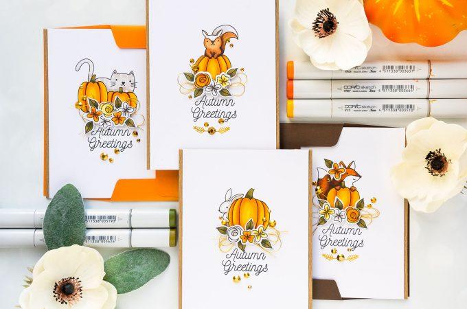 Pretty Pink Posh | Autumn Greeting Cards