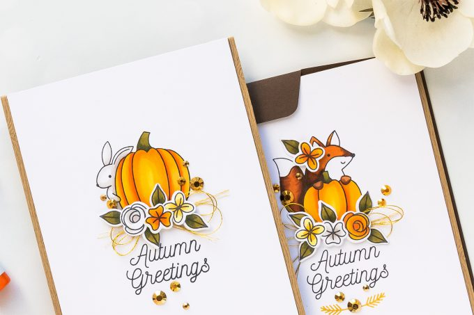 Pretty Pink Posh | Autumn Greeting Cards