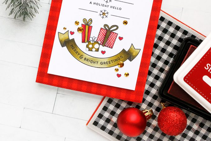 DIY Holiday Hello Card by Yana Smakula for Simon Says Stamp #cardmaking #simonsaysstamp