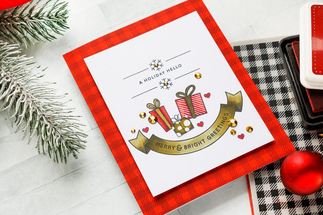 DIY Holiday Hello Card by Yana Smakula for Simon Says Stamp #cardmaking #simonsaysstamp