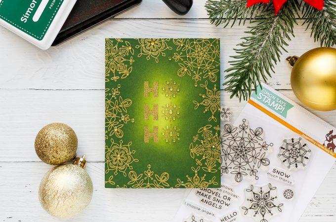 Simon Says Stamp | Jewel Encrusted Christmas Card - Ho Ho Ho by Yana Smakula #cardmaking #christmascard