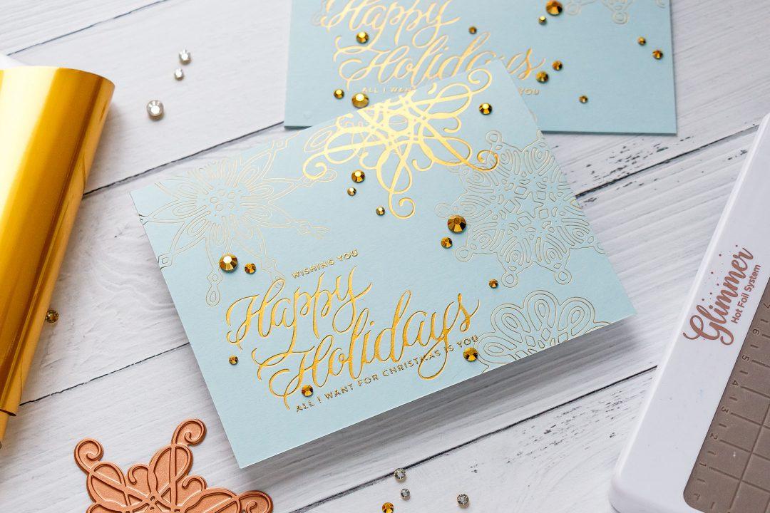 Spellbinders | Foil Stamped Christmas Cards. Video (Blog Hop + ...