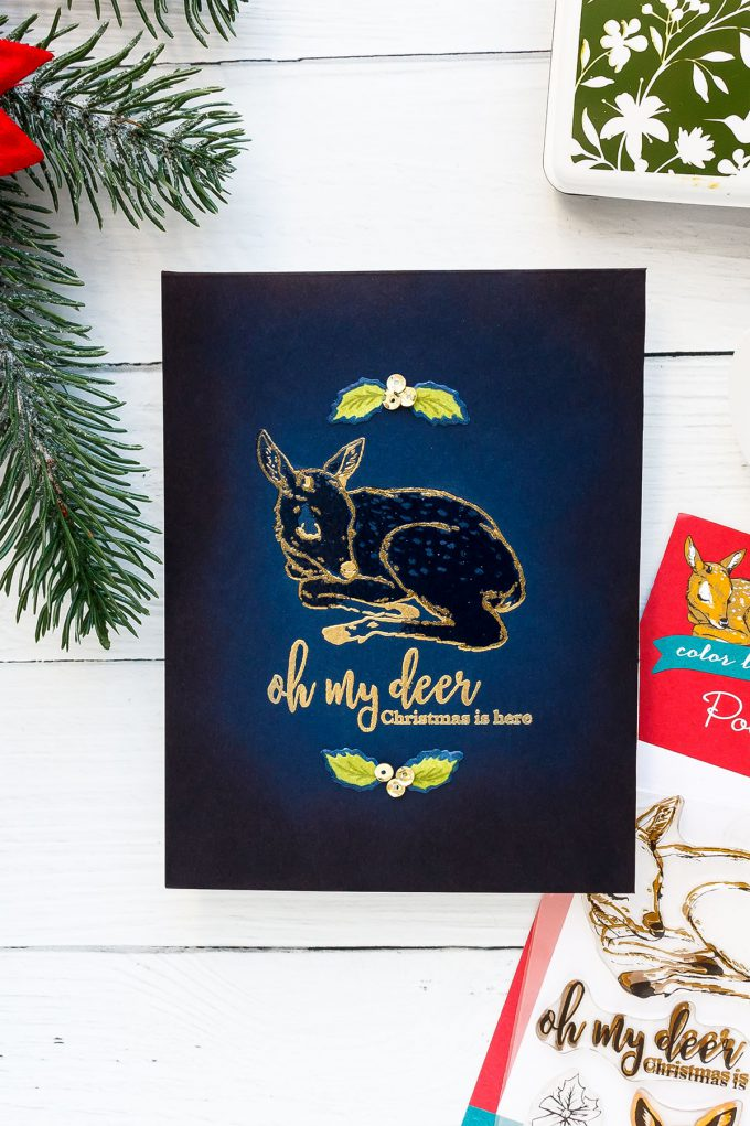 Oh My Deer, Christmas is Here card by Yana Smakula for Hero Arts