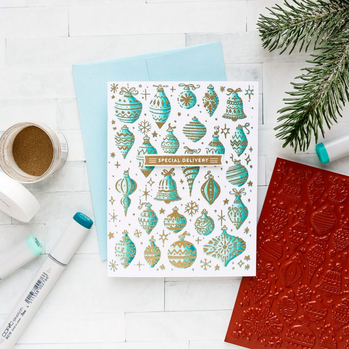 Hero Arts | Stationery Style Holiday Cards. November 2018 My Monthly Hero Kit. Video (Blog Hop + Giveaway)
