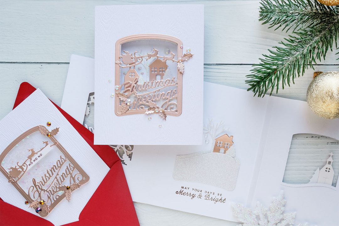 Spellbinders | Trifold Christmas Cards with Amazing Paper Grace Die ...