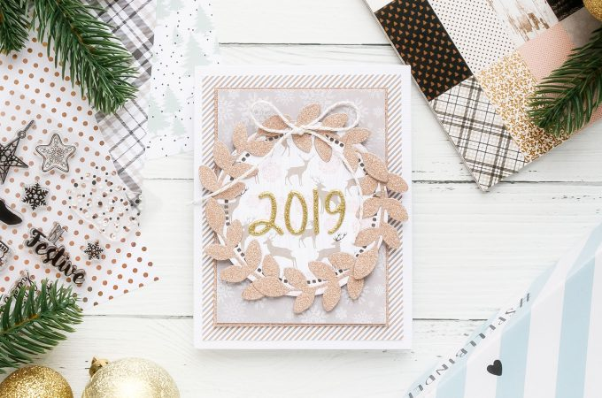 Cardmaking for Beginners | Patterned Paper Cards with Spellbinders December Club Kit Extras