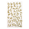 Winter Wishes Gold Glitter Alphabet Stickers