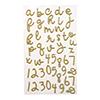 Winter Wishes Gold Glitter Alphabet Stickers