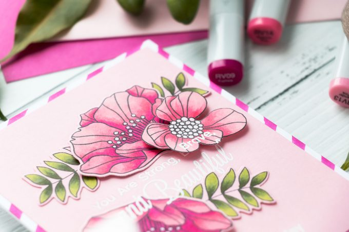 Handmade Female Birthday Card Idea. Video tutorial by Yana Smakula for My Favorite Things