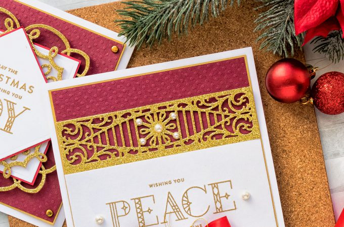 Wishing You Peace Card by Yana Smakula for Spellbinders. As Seen in Die-cutting Essentials Magazine Issue 45