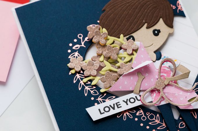 Paper Doll Love You Valentine's Day cards with Spellbinders Small & Large Die of the Month January 2019