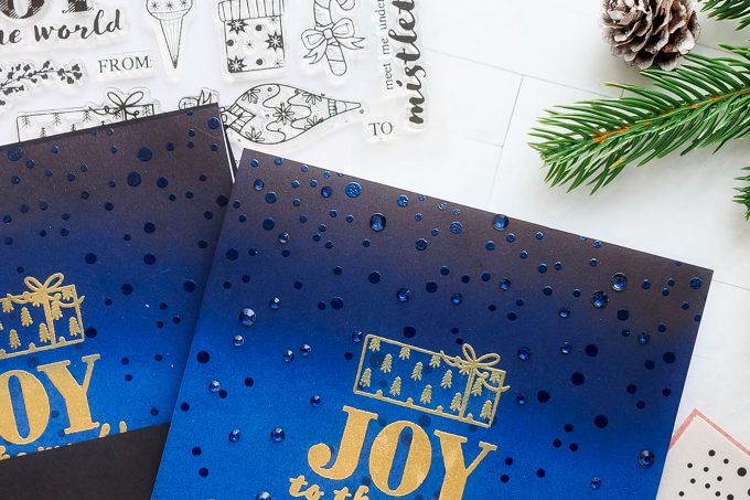 More Last Minute Christmas Card Ideas. Handmade cards by Yana Smakula for Simon Says Stamp.