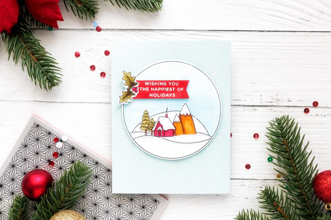 Simon Says Stamp | Happy Holidays Christmas Card by Yana Smakula