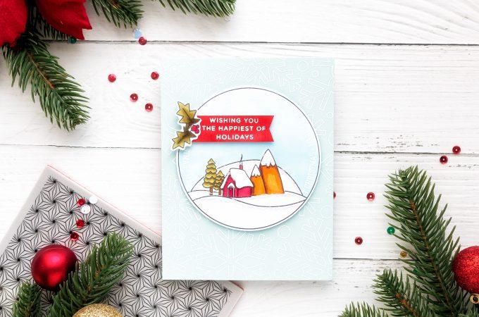 Simon Says Stamp | Happy Holidays Christmas Card by Yana Smakula