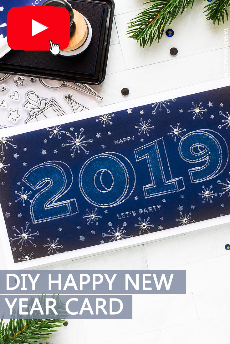 Simon Says Stamp | Happy New Year 2019 Card. Video ...