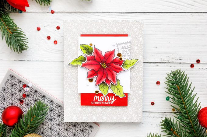 Simon Says Stamp | Merry Christmas Poinsettia Card by Yana Smakula