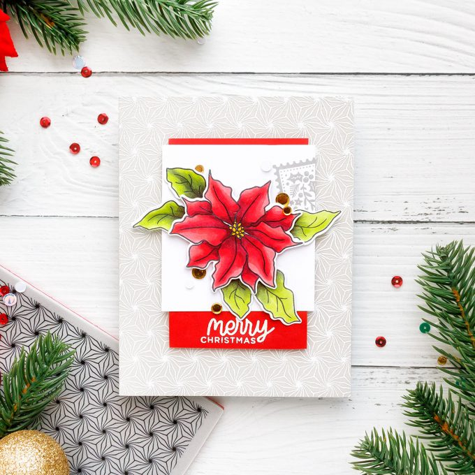 Simon Says Stamp | Merry Christmas Poinsettia Card by Yana Smakula