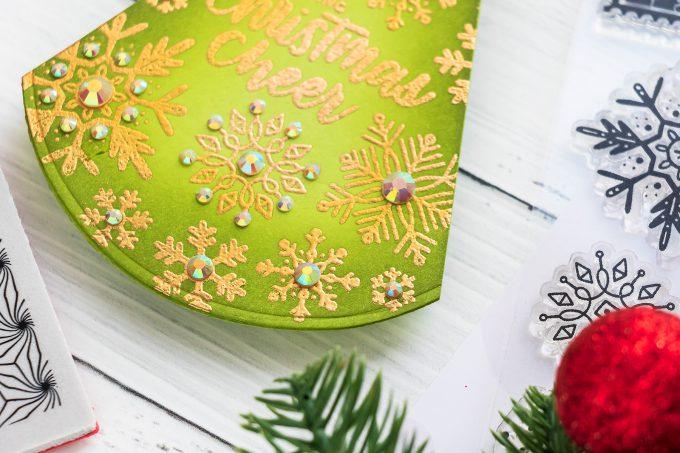 Triangle-Shaped Christmas Card by Yana Smakula for Simon Says Stamp