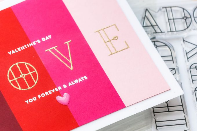 Color Blocked Valentine's Day Card by Yana Smakula for Simon Says Stamp