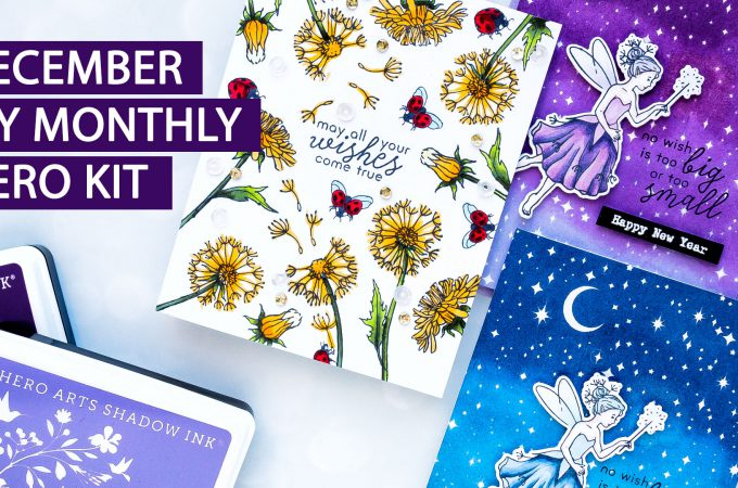 December 2018 My Monthly Hero Kit. Video (Blog Hop + Giveaway)