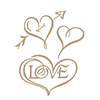 Spellbinders Hearts & Love Glimmer Hot Foil Plate