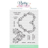 Pretty Pink Posh Floral Hearts Clear Stamps