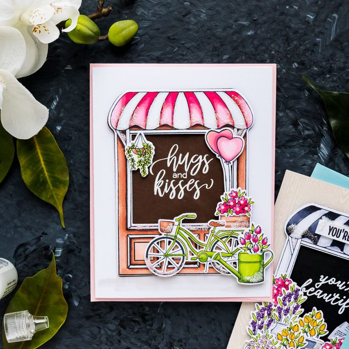Hero Arts | Store Front Floral Cards. January 2019 My Monthly Hero Kit. Video (Blog Hop + Giveaway)