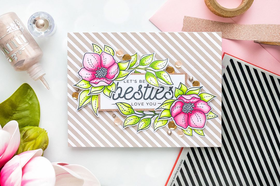 Simon Says Stamp | DIY Friendship Card - Let's Be Besties! Handmade card by Yana Smakula