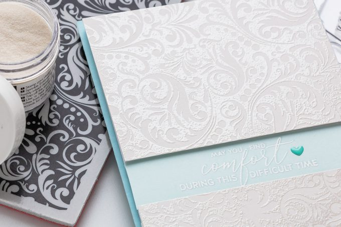Sympathy Card examples + what to write on the inside. Handmade card by Yana Smakula for Simon Says Stamp