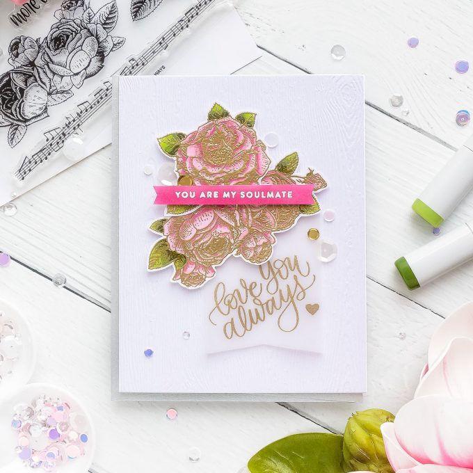 Simon Says Stamp | You Are My Soulmate - Valentine's Day Card. CAS Cardmaking. Video tutorial by Yana Smakula