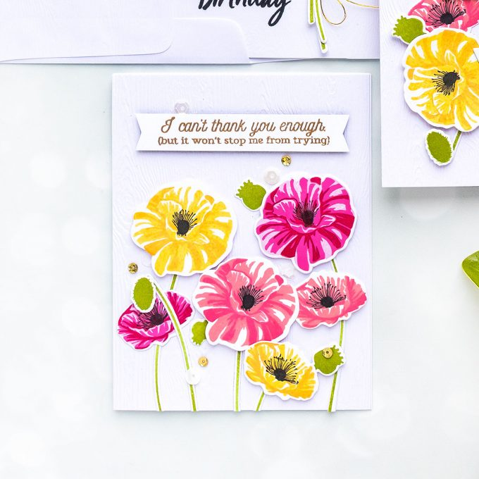 Hero Arts | How to Layer Color Layering Poppy (& Mistakes in Cardmaking). Video tutorial by Yana Smakula. Poppy Greeting Cards