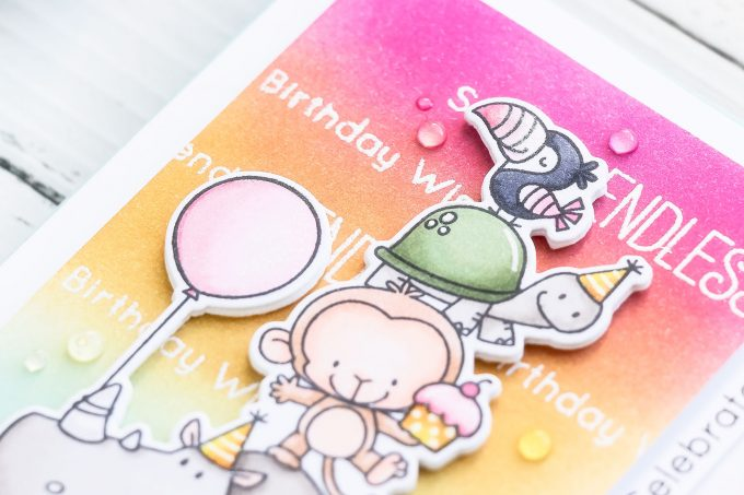 My Favorite Things | Colorful Child's Birthday Card. Video tutorial
