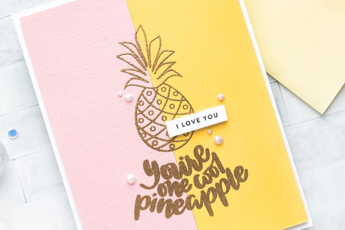 Simon Says Stamp | Color Blocking Take Two - Clean & Modern. You're One Cool Pineapple Greeting Card by Yana Smakula