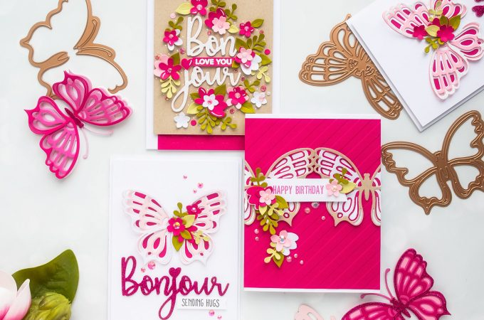 Spellbinders | February 2019 Large Die of the Month - Layered Butterfly Cards