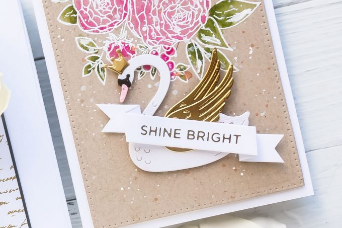 Spellbinders | Die Cut Swan Cards with Watercolor Florals. Video