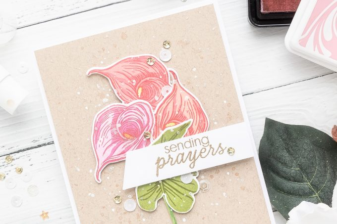 Hero Arts | Color Layering Calla Lily Sending Prayers Card by Yana Smakula