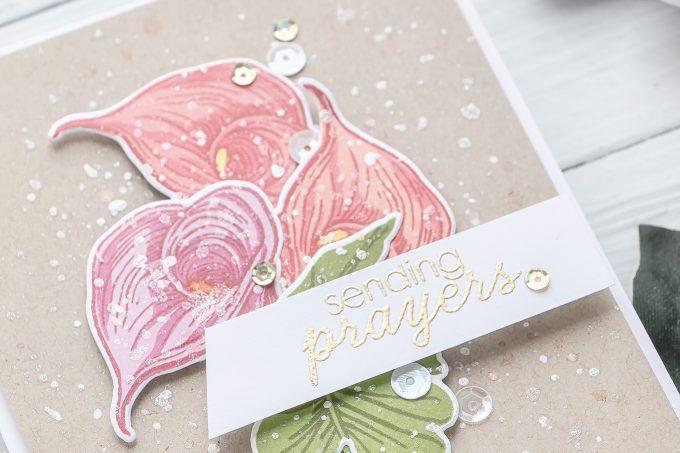 Hero Arts   Color Layering Calla Lily Sending Prayers Card by Yana Smakula