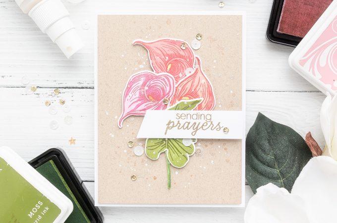 Hero Arts | Color Layering Calla Lily Sending Prayers Card by Yana Smakula