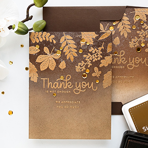 Simon Says Stamp | Fall Thank You Cards featuring Ink Blending & Heat Embossing – November Card Kit
