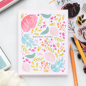Simon Says Stamp | Floral Pattern Birthday Card. Video