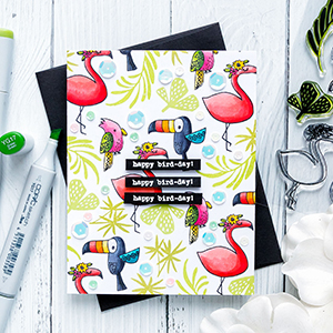 Flora & Fauna | Happy Bird-Day Card. Photo Tutorial