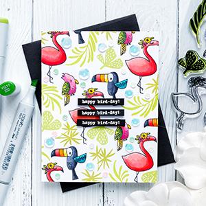 Flora & Fauna | Happy Bird-Day Card. Photo Tutorial