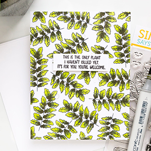 Simon Says Stamp | Stamped Leafy Pattern Card with Plantiful Puns