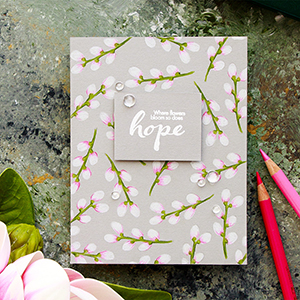 Simon Says Stamp | Where Flowers Bloom – So Does Hope. Polychromos Coloring