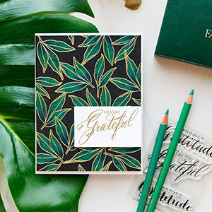 WPlus9 | Emerald Pencil Colored Background (Take Two) – So Very Grateful Card