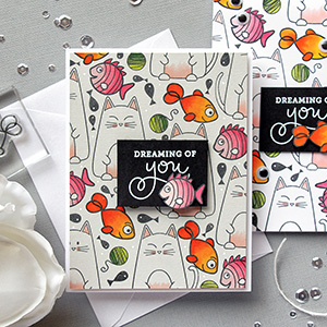 Simon Says Stamp | Cats & Fish Stamped Pattern Cards. Video