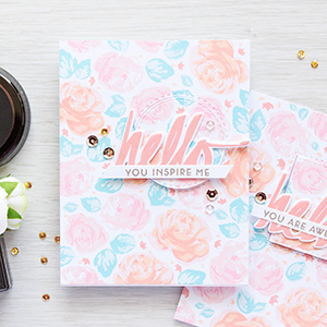 Altenew | Vintage-inspired Rose Stamped Patterns. Video + Giveaway (now closed)